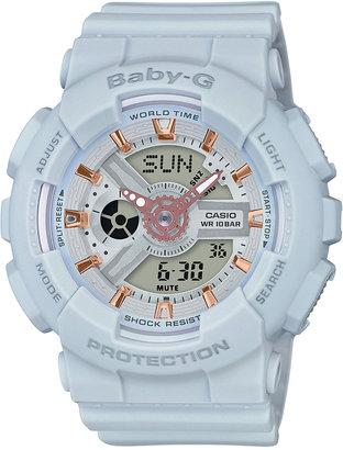 Baby-G Women's Analog-Digital Light Gray Resin Strap Watch 43x46mm BA110GA-8A $120 thestylecure.com