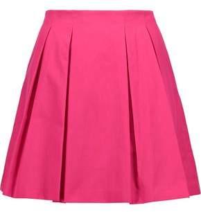 Alice + Olivia Conner Pleated Cotton-Poplin Mini Skirt