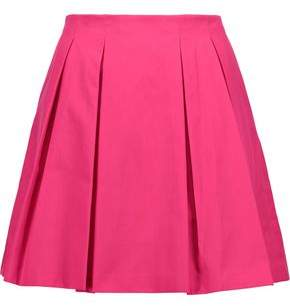 Alice + Olivia Alice+olivia Conner Pleated Cotton-Poplin Mini Skirt