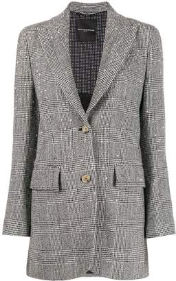 Ermanno Scervino rock stud tweed blazer
