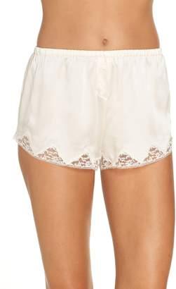 Morgan Lane Lace Trim Silk Shorts