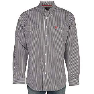 Cinch Men's Classic Fit Long Sleeve Button Two Flap Pocket Stripe Shirt