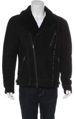 Bottega Veneta Shearling Moto Jacket