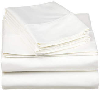 Superior 530 Thread Count Premium Combed Cotton Solid Sheet Set - King - White Bedding