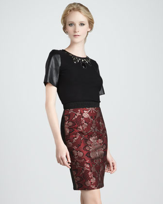 Tracy Reese Brocade Pencil Skirt