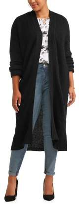Evelyn Taylor Women's Plus Size Ribbed Duster Cardigan