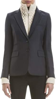 Veronica Beard Navy Classic Jacket With Ivory Knit Upstate Dickey