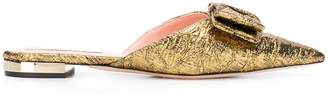 Rochas party bow slippers