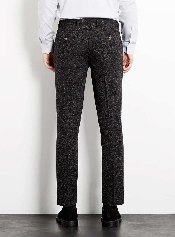 Topman Charcoal Fleck Skinny Suit pants