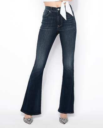 Express High Waisted Stretch Bell Flare Jeans
