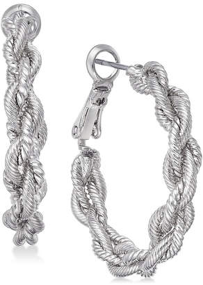 Charter Club Gold-Tone Braid Hoop Earrings, Created for Macy's