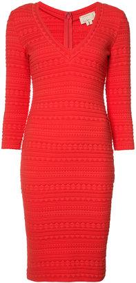 Nicole Miller textured V-neck dress $365 thestylecure.com