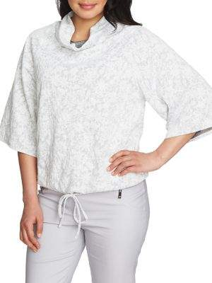 Chaus Graceful Blooms Floral Cowlneck Pullover
