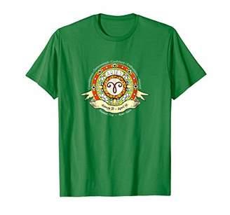 Aries Western Astrology Zodiac Sun Sign Celestial T Shirt