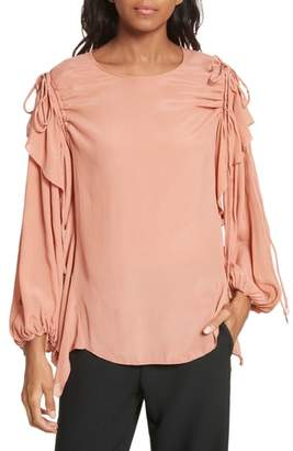 See by Chloe Ruffle Balloon Sleeve Top