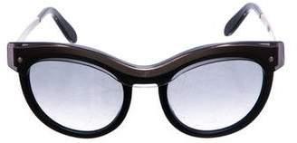 Salvatore Ferragamo Round Gradient Sunglasses