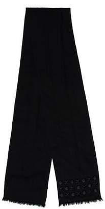 Burberry Wool Stud-Embellished Scarf