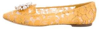 Dolce & Gabbana Embellished Lace Flats