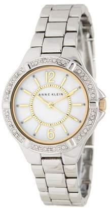 Anne Klein Women's Swarovski Crystal Mother of Pearl Bracelet Watch, 34mm