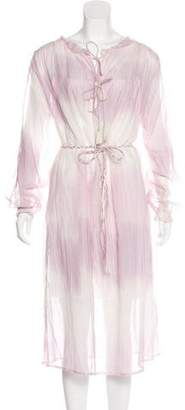 Lemlem Tie-Dye Semi-Sheer Dress