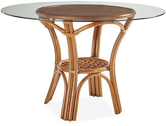 Palm Harbor Rattan Round Dining Table - Natural - South Sea Rattan