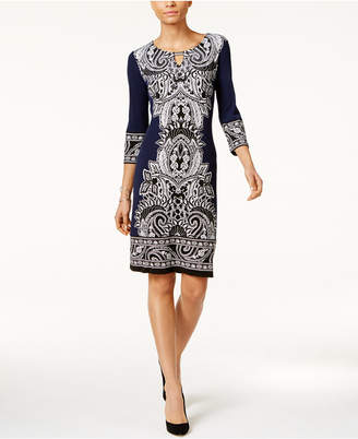 JM Collection Printed Sheath Dress, Only at Macy's $59.50 thestylecure.com