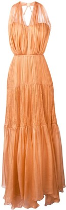 Maria Lucia Hohan Poppy pleated maxi dress