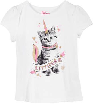 Epic Threads Little Girls Kitty Unicorn T-Shirt