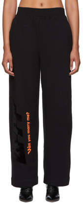 Off-White Black Modern Obstacles Lounge Pants