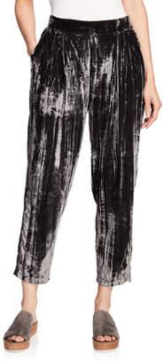 Splendid Cropped Velvet Pull-On Jogger Pants