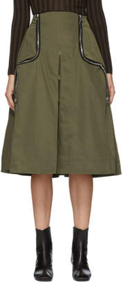 J.W.Anderson Green Two-Way Zipper Skirt