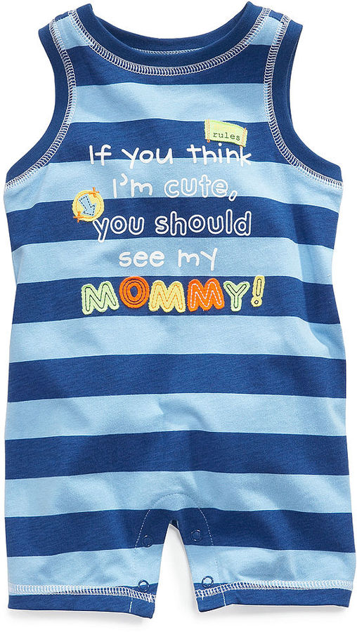 First Impressions Baby Romper, Baby Boys Striped Sunsuit
