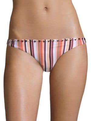 Full Coverage Striped Bikini Bottom