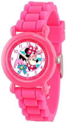 Disney Minnie Mouse Girl's Pink Silcone Watch
