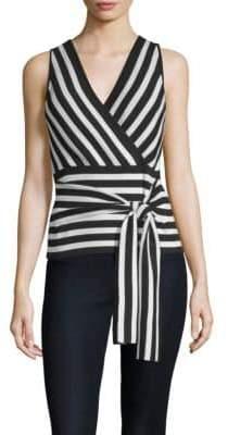 Parker Winifred Stripe Wrap Top