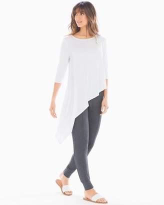 Soft Jersey Asymmetrical Hem Top Bright White