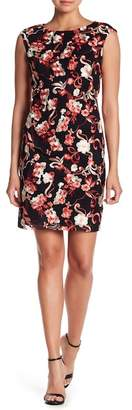 Donna Ricco Embroidered Mesh Dress