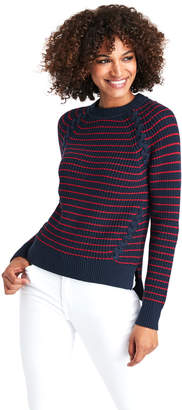 Vineyard Vines Break Stripe Lattice Crewneck Sweater