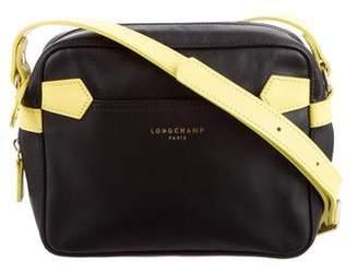 Longchamp Two-Tone Leather Crossbody Bag