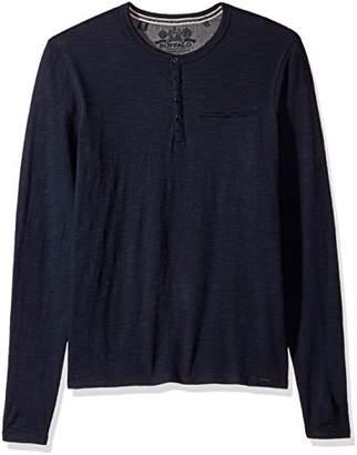 Buffalo David Bitton Men's Katain Long Sleeve Henley Knit Shirt