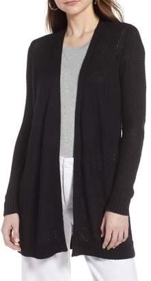 Halogen Textured Cotton Knit Cardigan