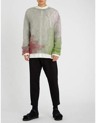 Ann Demeulemeester Regular-fit wool and cotton-blend trousers