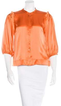 See by Chloe Silk Button-Up Top