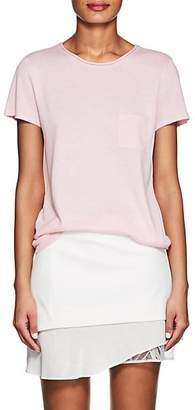 Barneys New York Women's Silk-Cashmere Short-Sleeve Sweater - Rose