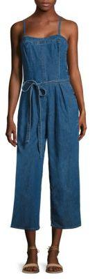 AG Gisele Wide-Leg Denim Jumpsuit $218 thestylecure.com