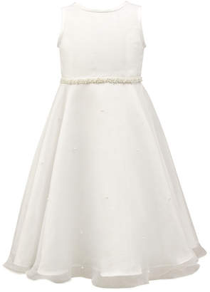 Jayne Copeland Satin/Organza With Pearls Dress