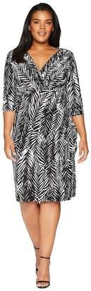 Lauren Ralph Lauren Plus Size Chelsie Zebra Twigs Women's Dress