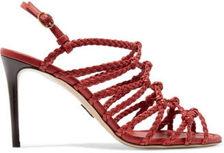 Paul Andrew Who's That Braided Leather Sandals - Red