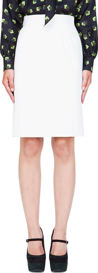 Marc Jacobs Ivory Wool Skirt