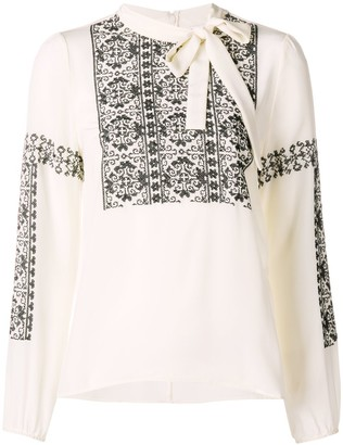 RED Valentino lace-embroidered blouse